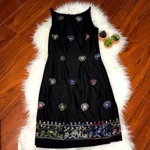 Harold's Dress Size 2  Embroidery Spaghetti Strap